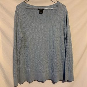 Eddie Bauer XXl Light blue scoopneck sweater 894a